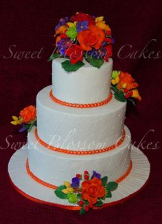 fall wedding cakes | My first wedding cake for my friends
