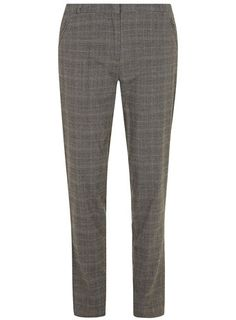 Grey brushed check trousers