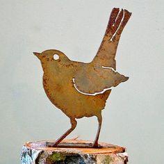 Elegant Bird Silhouette Baby Robin