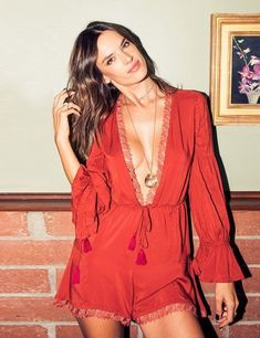 Keep it fun and flirty with this pretty playsuit! | 30 Red Outfits to wear before you're 30.
