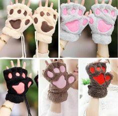 "Cute cartoon cat paw gloves  Coupon code ""cutekawaii"" for 10% off"