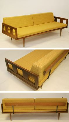 Am still searching for a similar mid-century sofa design with the same gorgeous lines. I have the perfect fabric waiting for me to rescue and recover a used gem.