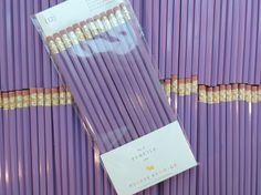 Lilac Pencils, set of 12, Preppy School Supplies by PreppyProdigy on Etsy