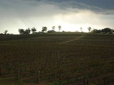 Storm clouds over the Hunter Valley