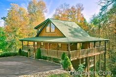 Cedar Forest - Love this cabin. It has 1 bedroom and sleeps 6! Making it the perfect cabin for a couple or family!