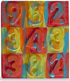 Jasper Johns is an American artist whose richly covered number paintings rose to prominence in the 1950s. I created this project awhile back so students could make a miniature version, and recycle an old CD case as well. 1. Six 1 1/2″ foam numbers or letters are arranged on an old CD case, the 1/4″ thick … Read More