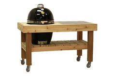 kamado grill and stand