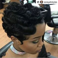 Finger Wave Hairstyle Photos 158932 Big Waves for Short Black Hairstyles Inspirational 584 Best Fing Short Black Hairstyles, Pretty Hairstyles, Short Hair Cuts, Girl Hairstyles, Night Hairstyles, Vintage Hairstyles, Relaxed Hair, Finger Waves Short Hair, Finger Waves Natural Hair