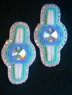 Dentalium Earrings by CreeBeads ( Jesse V. McMann-Sparvier, Cree - Sioux) on Etsy