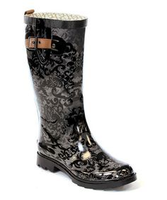 Take a look at this Charcoal Gray Knee-High Rain Boot by Chooka & Western Chief on #zulily today!