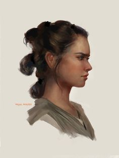 I'm so happy that so many artists are drawing Rey! Loved her in TFA!