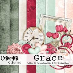"Free scrapbook kit ""Grace""  from Creative Chaos"