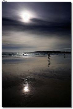 Playa de la #Lanzada a medianoche. #Galicia