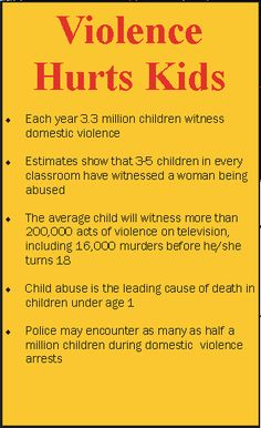 child domestic violence | ... as many as half a million children during domestic violence arrests