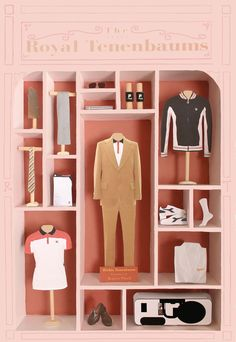 The Royal Tenenbaums poster by Jordan Bolton. Made by recreating the costumes of Richie Tenenbaum.
