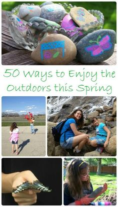 LOTS of fun ways to get the kids outside this Spring!  Nature activities, outdoor play and more