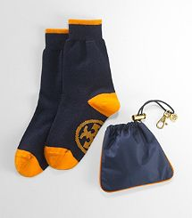 Tory Burch travel socks means you'll be staying cosy, in style!