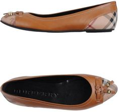 Burberry Brown Ballet Flats