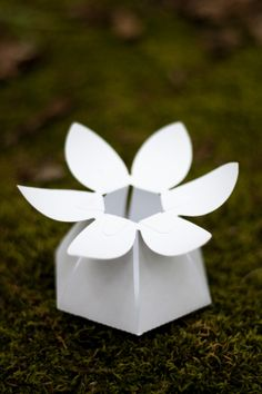The Crimson Poppy, a site more focused on DIY paper flowers than favor boxes, offers a great variety of DIY flower favor boxes.  The degree of difficulty to assemble these is moderate to very difficult.  And the price is $$$.  But, in Ed Poultry's humble opinion, well worth the time and effort.