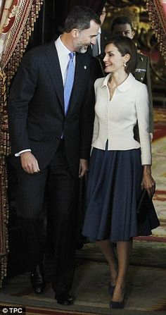 Spain's Queen Letizia in fitted jumpsuit at SECOND awards ceremony in two days | Daily Mail Online