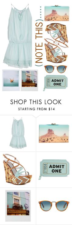 """""""note this"""" by emcf3548 on Polyvore featuring Elizabeth and James, Charlotte Olympia, Sam Edelman, Kate Spade, Polaroid and Persol"""