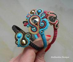 Soutache Bracelet, Soutache Pendant, Soutache Jewelry, Beaded Jewelry, Beaded Bracelets, Soutache Tutorial, Biscuit, Bohemian Jewelry, Shibori