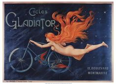 Gladiator Cycles in Montmartre, France $28 for 27x20