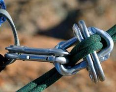 Old school carabiner brake rapel/belay setup.