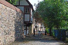 Neubrandenburg, Stadtmauer mit Wiekhäuser