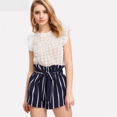 Shop the on-trend high waisted shorts style today | The Must Have Stylish Summer Outfits