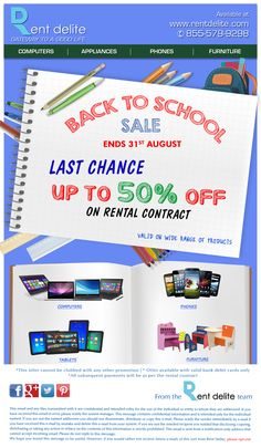 Hurry!!!Last day of our Back To School Sale!. Grab up to 50% off on Brand new #Computers, #Phones & more...