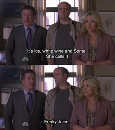 """30 Rock Season 5 Episode 15: It's Never Too Late for Now. """"She calls it Funky Juice."""""""