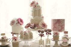 Birdcage Dessert Table..Absolutely Gorgeous... http://www.cottonandcrumbs.co.uk/cupcakes/