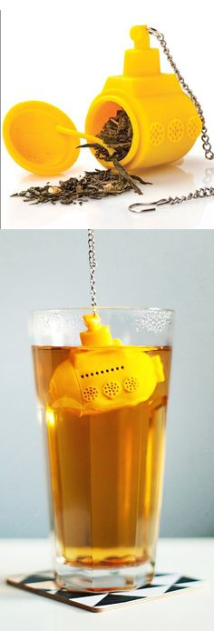 Yellow Submarine // love this tea infuser #productdesign
