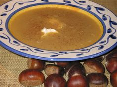 Chestnut Soup Italian Table, Italian Recipes, Cooking Recipes, Soup, Pudding, Baking, Breakfast, Desserts, Morning Coffee