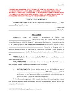 Construction Book Express Business Contract Forms Real State - Construction contract template doc