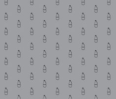 Milk - Gray fabric by l