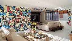 Arte em sala ensolarada de apartamento em São Paulo. #loroverz #art #brazilianartist  www.loroverz.com