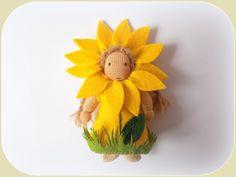 Künstlerpuppen - Blume 4 Jahreszeiten Jahreszeitentisch - ein Designerstück von susannelfe bei DaWanda