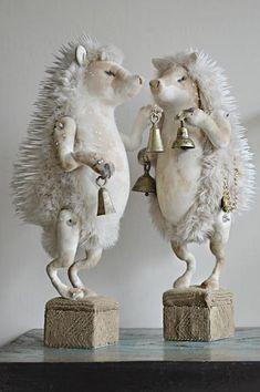 The Wish Post Book by Mister Finch – MisterFinchShop Textile Sculpture, Soft Sculpture, Sculptures, Sculpture Ideas, Woodland Creatures, Woodland Animals, Unusual Art, Unique Art, Mister Finch