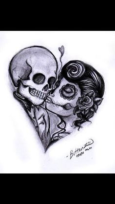 """Think about this as my next tattoo saying """"hopeless romantic"""" and probably less suger skull more pin up"""