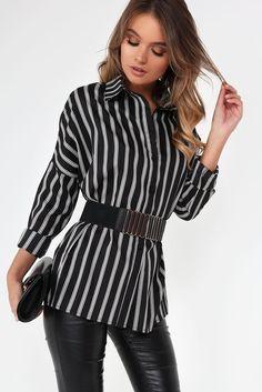 Calina Black Stripe Shirt