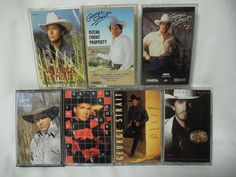 George Strait Garth Brooks Country Western Cassette Tapes Lot of 7 *Tested*