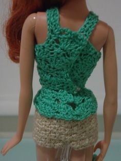 Back view of the Barbie Peplum Tank Top
