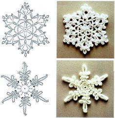 Вязанные снежинки2