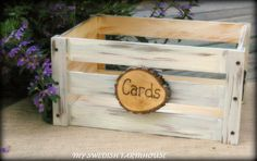Wedding Card Box Program Crate Rustic Winter Wedding Decor (your Color Choice)