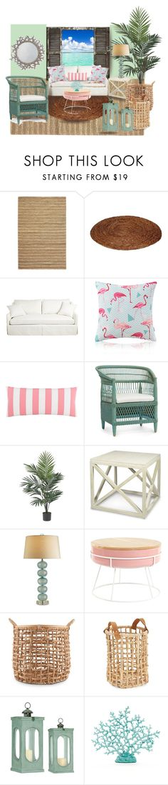 """""""Dream Beach House"""" by aquadecorator ❤ liked on Polyvore featuring interior, interiors, interior design, home, home decor, interior decorating, Home Decorators Collection, Pine Cone Hill, Nearly Natural and Palecek"""