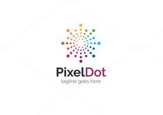 Pixel Dot Logo by XpertgraphicD on @creativemarket
