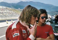 For those who've seen Rush last weekend  James Hunt and Barry Sheene in 1976. When playboys ruled the world.