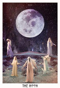 From the Beautiful Starchild Tarot Deck Trippy, Wicca, The Moon Tarot Card, Art Carte, Love Tarot, Mandala, Tarot Major Arcana, Oracle Tarot, Cartomancy